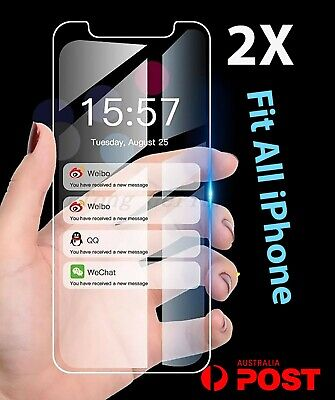 AU3.99 • Buy 2x IPhone 12 Screen Protector Tempered Glass 11 Pro XS Max XR 8 7 6 5 Plus 4s Lp