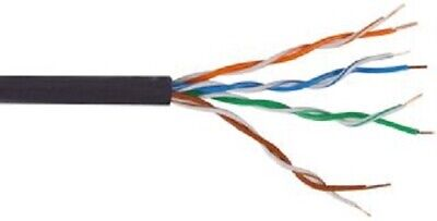 £16.99 • Buy 100m CAT5e CCA External Outdoor Or Indoor Use UTP 4 Pair Ethernet Network Cable