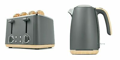 AU64.13 • Buy Grey Toaster 4 Slice & Cordless 1.7L Kettle Stainless Steel Electric Kitchen Set