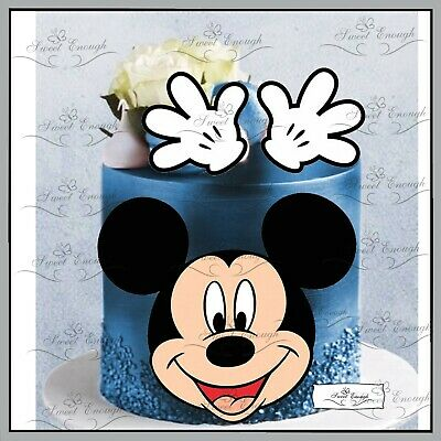 Mickey Mouse Birthday CARD Edible Wafer Rice Paper Cupcake Cake Topper  • 4.30£