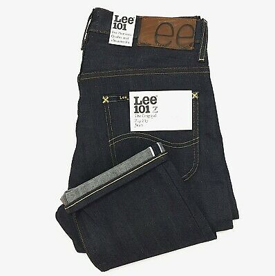 £77.87 • Buy (IRR) Lee 101Z Rigid Unwashed Selvedge Blue Jeans Zipper Fly Made In Japan