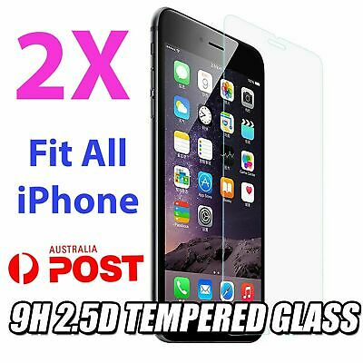 AU3.99 • Buy 2x IPhone 11 12 PRO XR XS Max 7 8 6S Plus 4s 5 Tempered Glass Screen Protector Y