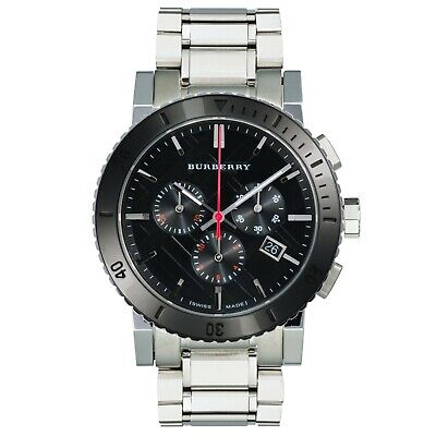 Mens Burberry Chronograph Watch With Black Dial And Swiss Movement BU9380 • 162.95£