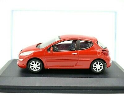 Model Car Peugeot 207 Scale 1/43 Diecast Modellcar Static Miniatures Red • 13£