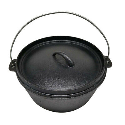 $ CDN76.81 • Buy Cast Iron Dutch Camp Oven 9QT 12  With Lipped Lid And Bag