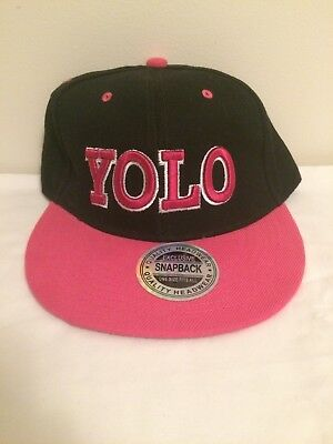 YOLO Snapback Hat Cap You Only Live Once Swag Justin Bieber Nicki Minaj Black • 13.74£