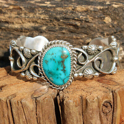 $350 • Buy Custom Order Only...Turquoise Bracelet Kingman Mine Modernist ,BR-00