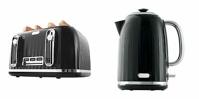 AU69.95 • Buy Euro Toaster 4 Slice Cordless 1.7L Kettle Stainless Steel Electric Kitchen Set