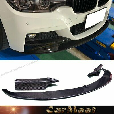 AU757.67 • Buy Carbon Fiber Performance 2 Piece Front Lip For 2012-2019 Bmw F30 3 Serie M Sport