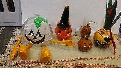 $ CDN12.98 • Buy Vintage Halloween Pirate Pumpkin And Set Of Pumpkins One Being Celluloid