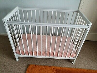 Baby Cot With Mattres 100×50 Space Saver Drop Side System  • 80£