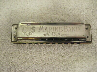 $20 • Buy Vintage M. Hohner Marine Band Harmonica  A440 Made In Germany
