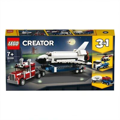 Lego 31091 Creator 3-in-1 Space Shuttle Transporter Helicopter Caravan Truck • 33.99£