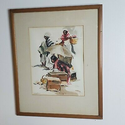 $539.99 • Buy Ramon Price Southwest Mexico Watercolor Original Signed 1930-2000 11  X 14.5