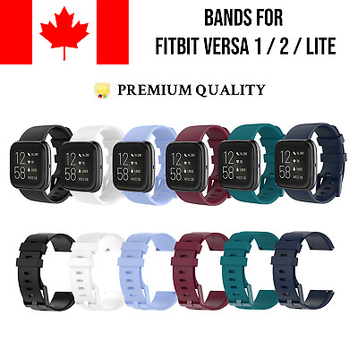 $ CDN6.79 • Buy For Fitbit Versa 1 2 Lite SE Replacement Soft Silicone Wrist Bands Strap Sport
