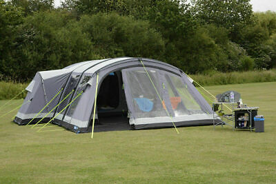 Used Twice Kampa Bergen 6 Berth Large Air Pro Person Man Family Inflatable Tent • 645£