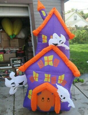 $ CDN96.80 • Buy Halloween Inflatable 7 Foot Totally Ghoul Haunted House NICE In Box Airblown
