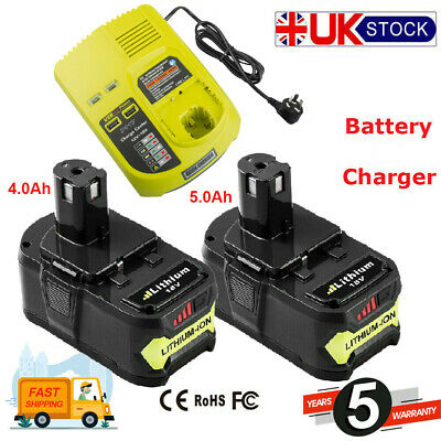 For Ryobi 18-Volt ONE+ Lithium-Ion 5.0 Ah High Capacity Battery (2-Pack) P145 • 19.49£
