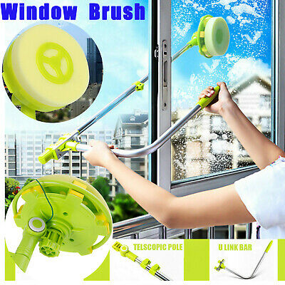 Window Cleaner Squeegee Sponge Head Telescoping Pole Extends From 0.6m To 1.4m • 18.99£