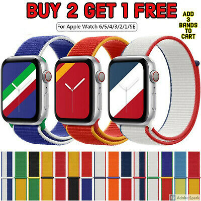 $ CDN5.22 • Buy Nylon Sports Band Strap For Apple Watch 38/40/42mm/44mm IWatch Series 5 4 3 2 1