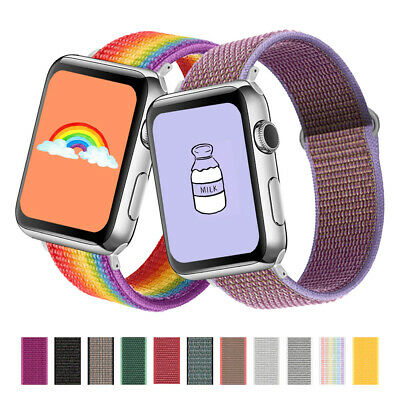 $ CDN4.94 • Buy Nylon Woven Loop IWatch Band Strap For Apple Watch Series SE 6 5 4 3 2 1 38-44mm