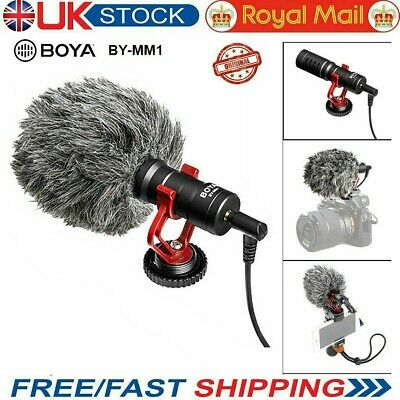 BOYA BY-MM1 3.5mm Microphone Condensor Video Mic For IPhone Samsung Cell Phone • 19.99£