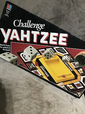 Vintage MB Games 1992 CHALLENGE YAHTZEE BOARDGAME SHAKE, STEAL, SCORE DICE GAME • 14£