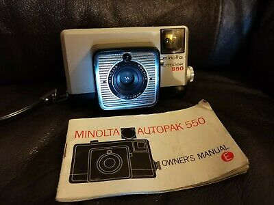 $ CDN15.32 • Buy Vintage Retro Minolta Autopak 550 35mm Film Camera With Owners Manual And Strap