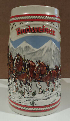 $ CDN24.99 • Buy Budweiser Holiday Clydesdale Beer Stein 1985  A  Series Christmas Vintage