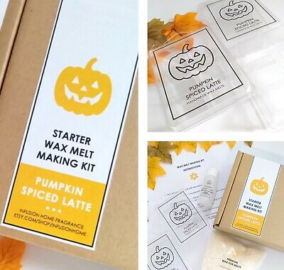 Pumpkin Spiced Latte - Wax Melt Making Kit - Soy Wax And Premium Fragrance Oil • 12.95£