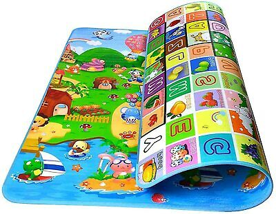 £11.99 • Buy 200cm X 180cm Play Mat 2 Sided Kids Crawling Educational Soft Foam Game Carpet