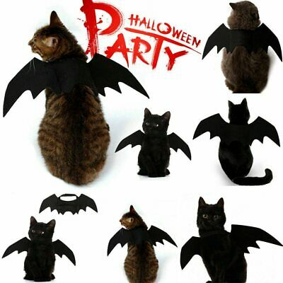 Pet Bat Halloween Costume Vampire Dress Outfit Wings For Dog Cat Animal Fancy • 2.79£