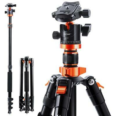 AU122.99 • Buy K&F Concept DSLR Tripods Aluminum Tripod Monopod With 360° Panorama Ball Head