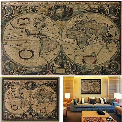 Nautical Chart Poster Bedroom Decorations Round Creative Home Supplies LR • 2.73£