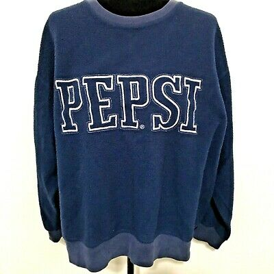 AU34.86 • Buy Vintage Pepsi Womens Sweatshirt L Large Embroidered Blue Inside Out Spell Out