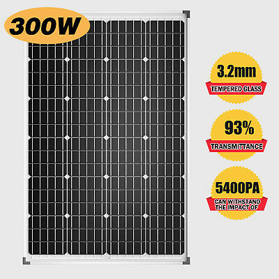 AU119 • Buy 12V 300W Solar Panel Kit Mono With Anderson Plug Power Camping Battery Charging