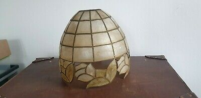 Vintage Capiz Shell Shade, Great Condition • 34.99£