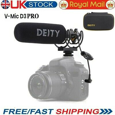 Deity V-Mic D3 Pro Super-Cardioid Directional Shotgun Microphone For DSLR Camera • 175£