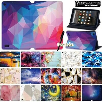 £7.99 • Buy Leather Flip Case Stand Cover For Amazon Fire 7  HD 8  8 Plus HD 10  Plus Tablet