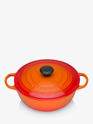 Le Creuset Essentials Cast Iron Round Casserole Soup Pot, 26cm, Volcanic • 172£