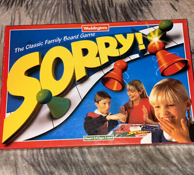 SORRY! Classic Fun Family Board Game Vintage Waddingtons 1997 90s Complete • 10.99£