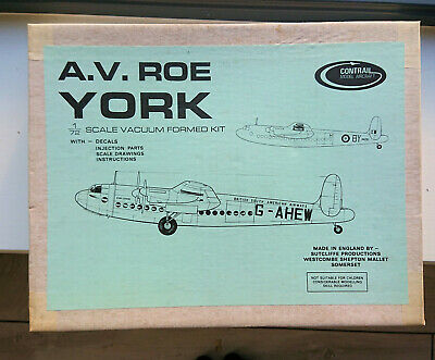Contrail A.V. Roe York (1:72) With Injection Parts. Never Opened. Rare • 10£