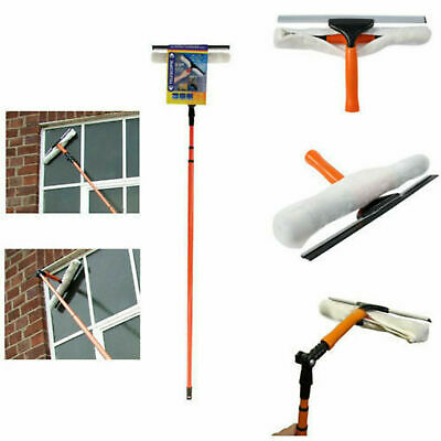 3.5M Long Telescopic Window Glass Cleaner Cleaning Kit Window Mop With Squeegee • 19.89£