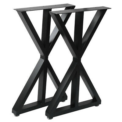 2X Industrial Frame Steel Metal Table Legs Dining Bench Office Desk Legs Support • 58.99£