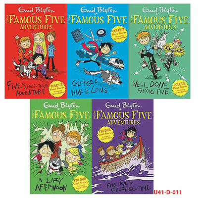 £26.99 • Buy Enid Blyton Famous Five 5 Books Collection Set (Five,George's,Lazy,Puzzling) NEW