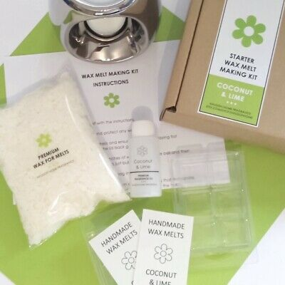 Soy Wax Melt Making Starter Kit - Coconut And Lime Fragrance • 12.95£