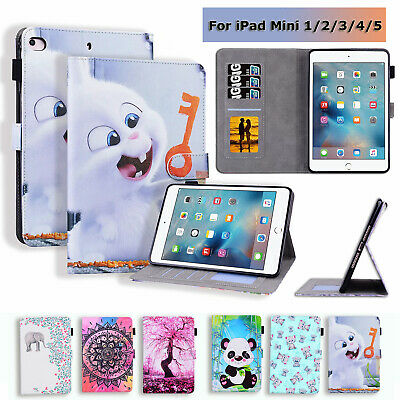 Tablet Case For 7.9'' IPad Mini 1 2 3 4 5 Painted PU Leather Stand Wallet Cover • 8.99£