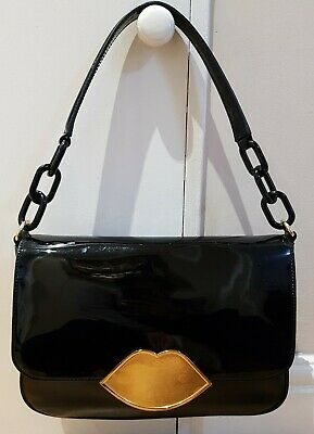 Lulu Guinness Patent/ Leather Annabelle Shoulder Bag • 90£