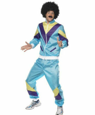 1980s Shell Suit Costume Height Of Fashion Retro Tracksuit Scouser Fancy Dress • 19.49£