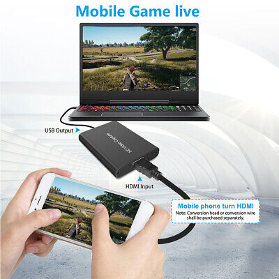 Online Teaching Portable Game Recording HDMI Video Record Card USB 2.0 HD 1080P • 14.32£